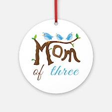 Mom Of Three (birds) Ornament (Round)