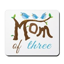 Mom Of Three (birds) Mousepad