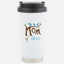 Mom Of Three (birds) Travel Mug
