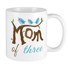Mom Of Three (birds) Mug