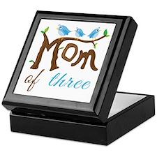 Mom Of Three (birds) Keepsake Box