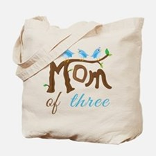 Mom Of Three (birds) Tote Bag