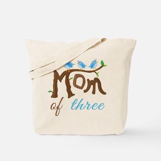 Mom Of Three (birds) Tote Bag