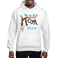 Mom Of Three (birds) Hoodie