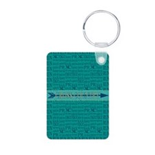 Cross Country Running Collage Blue Keychains