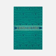 Cross Country Running Collage Blue Rectangle Magne