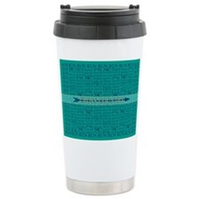 Cross Country Running Collage Blue Travel Mug