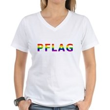 I put the F in PFLAG - White - Rainbow T-Shirt