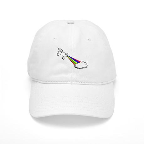 Unicorn Rainbow Fart Cloud Baseball Cap by clevershop123