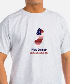 New Jersey Rocks Red White & Blue T-Shirt