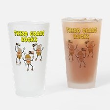 Third Grade Rocks Drinking Glass