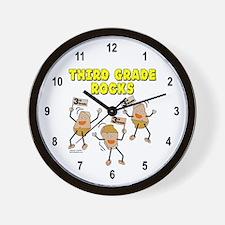 Third Grade Rocks Wall Clock