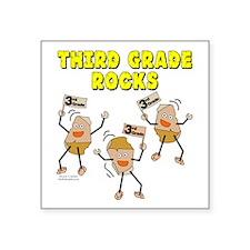 "Third Grade Rocks Square Sticker 3"" x 3"""