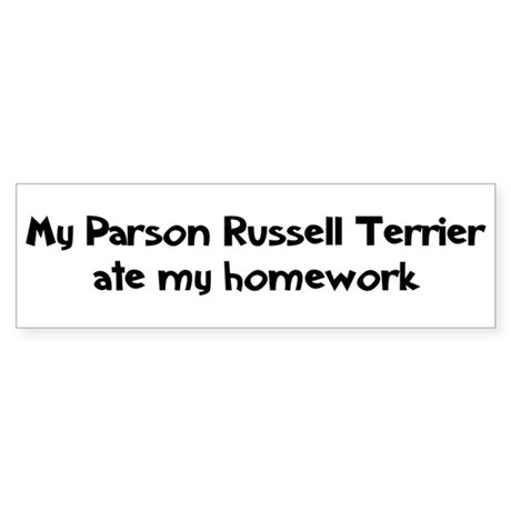 Parson Russell Terrier ate my Bumper Sticker