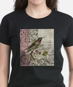 Modern vintage French hummingbird T-Shirt