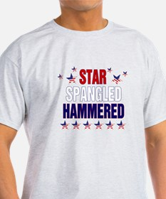 Unique Star spangled hammered T-Shirt