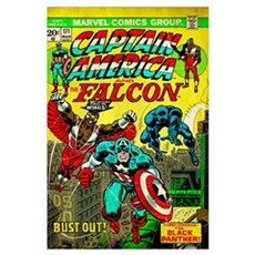 Captain America And The Falcon (Bust-Out!) Framed Print