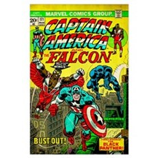 Captain America And The Falcon (Bust-Out!) Poster