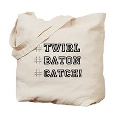 Hashtag Twirl Tote Bag
