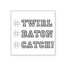 """Hashtag Twirl Square Sticker 3"""" x 3"""""""