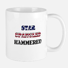 Star Spangled Hammered Mug