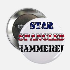 """Star Spangled Hammered 2.25"""" Button"""