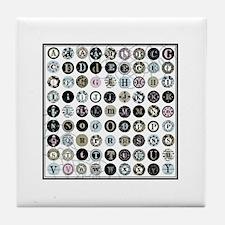 Modern vintage typewriter alphabet keys Tile Coast