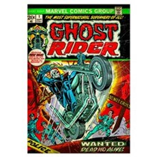 Ghost Rider (Wanted Dead And Alive!) Framed Print