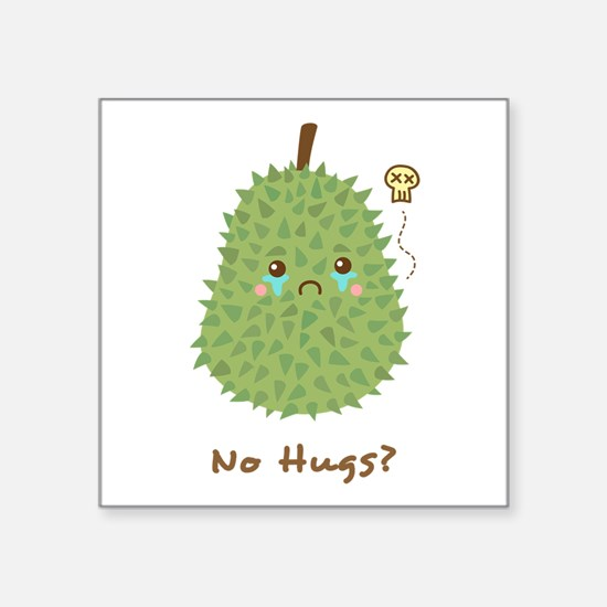 Sad Durian that gets no hugs Sticker