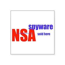 """NSA Spyware Sold Here Square Sticker 3"""" x 3&q"""