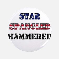 """Star Spangled Hammered 3.5"""" Button"""