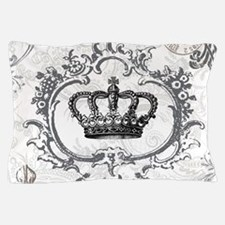 Vintage french shabby chic crown Pillow Case