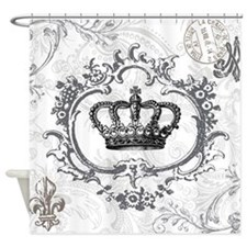 Vintage french shabby chic crown Shower Curtain