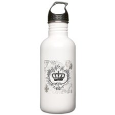 Vintage french shabby chic crown Water Bottle