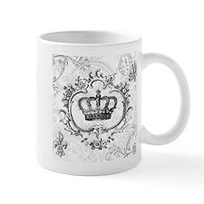 Vintage french shabby chic crown Mug