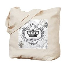 Vintage french shabby chic crown Tote Bag