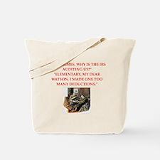 sherlock holmes joke Tote Bag