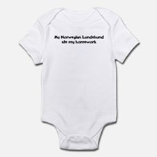 Norwegian Lundehund ate my ho Infant Bodysuit