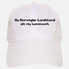 Norwegian Lundehund ate my ho Baseball Baseball Cap
