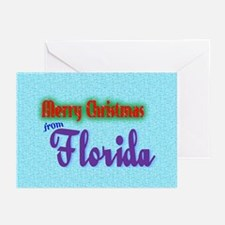 Florida Christmas Card Greeting Cards (Pk of 10)