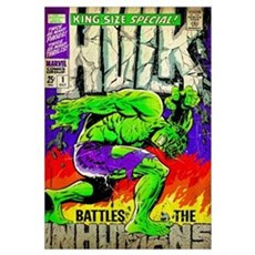 Hulk Battles The Inhumans Framed Print