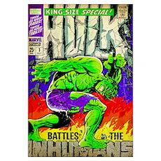 Hulk Battles The Inhumans Poster