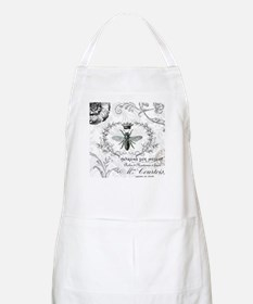 Vintage french shabby chic queen bee collage Apron