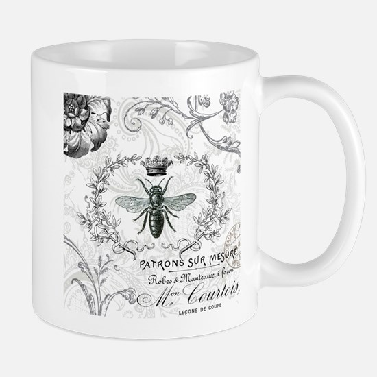 Vintage french shabby chic queen bee collage Mug