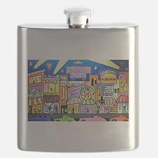 Design #32 SOuth Beach Miami Nightlife Flask