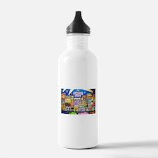 Design #32 SOuth Beach Miami Nightlife Water Bottl