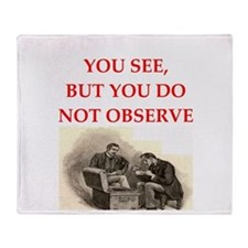 sherlock holmes quote Throw Blanket