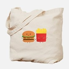 Kawaii Burger and Fries are best pals Tote Bag