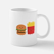 Kawaii Burger and Fries are best pals Mug