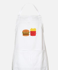 Kawaii Burger and Fries are best pals Apron